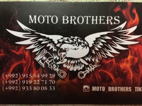 """Die """"Moto Brothers"""" in Dushanbe machen einen tollen Job!!!"""