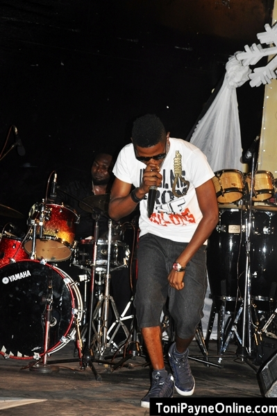 Sax Record artist XCape on stage
