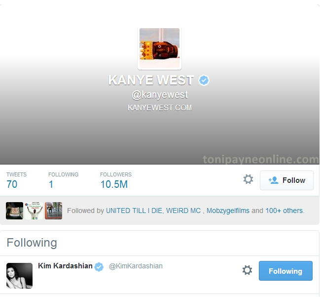 kanye west following