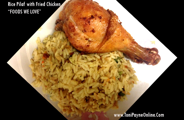 Tonights-Dinner-Rice Pilaf with Fried Chicken