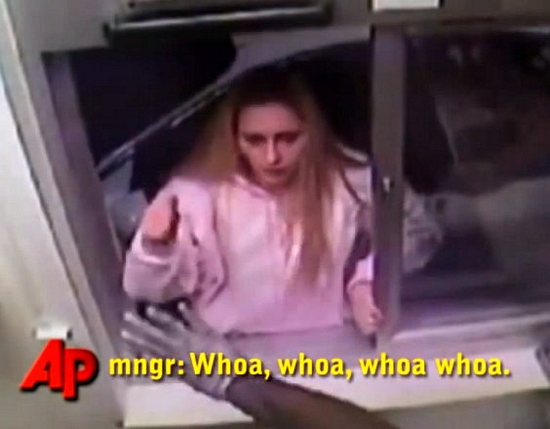 Crazy Woman goes on McNuggets Drive Thru Rampage – Incredible Video