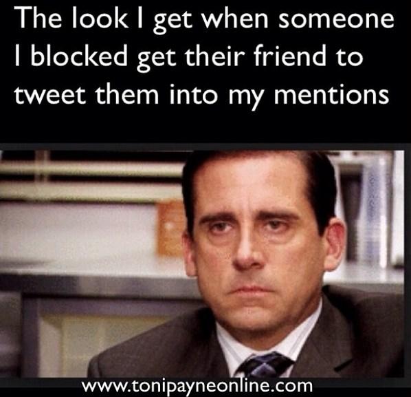 Funny Hilarious Blocked Twitter User Meme