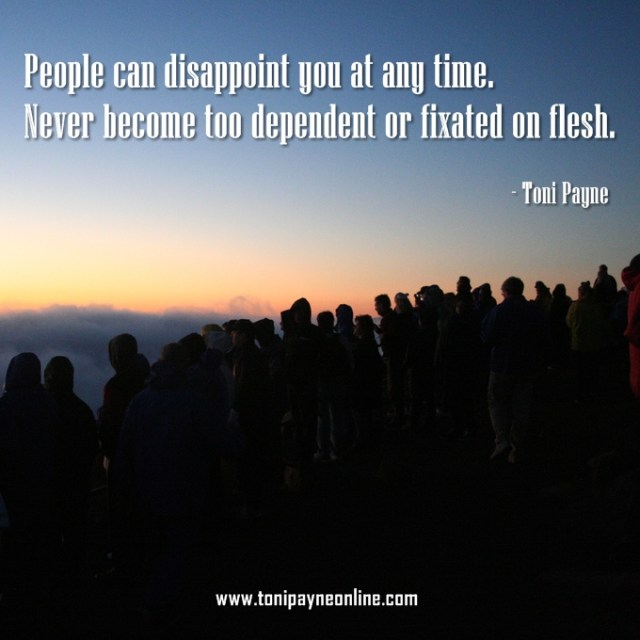 Quote - Quote about depending on People People Can Disappoint you