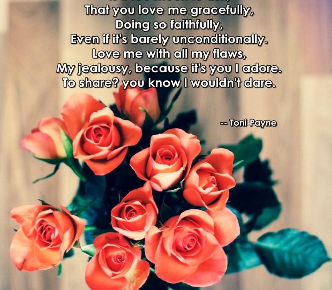 Love Poems: Love Me by Toni Payne