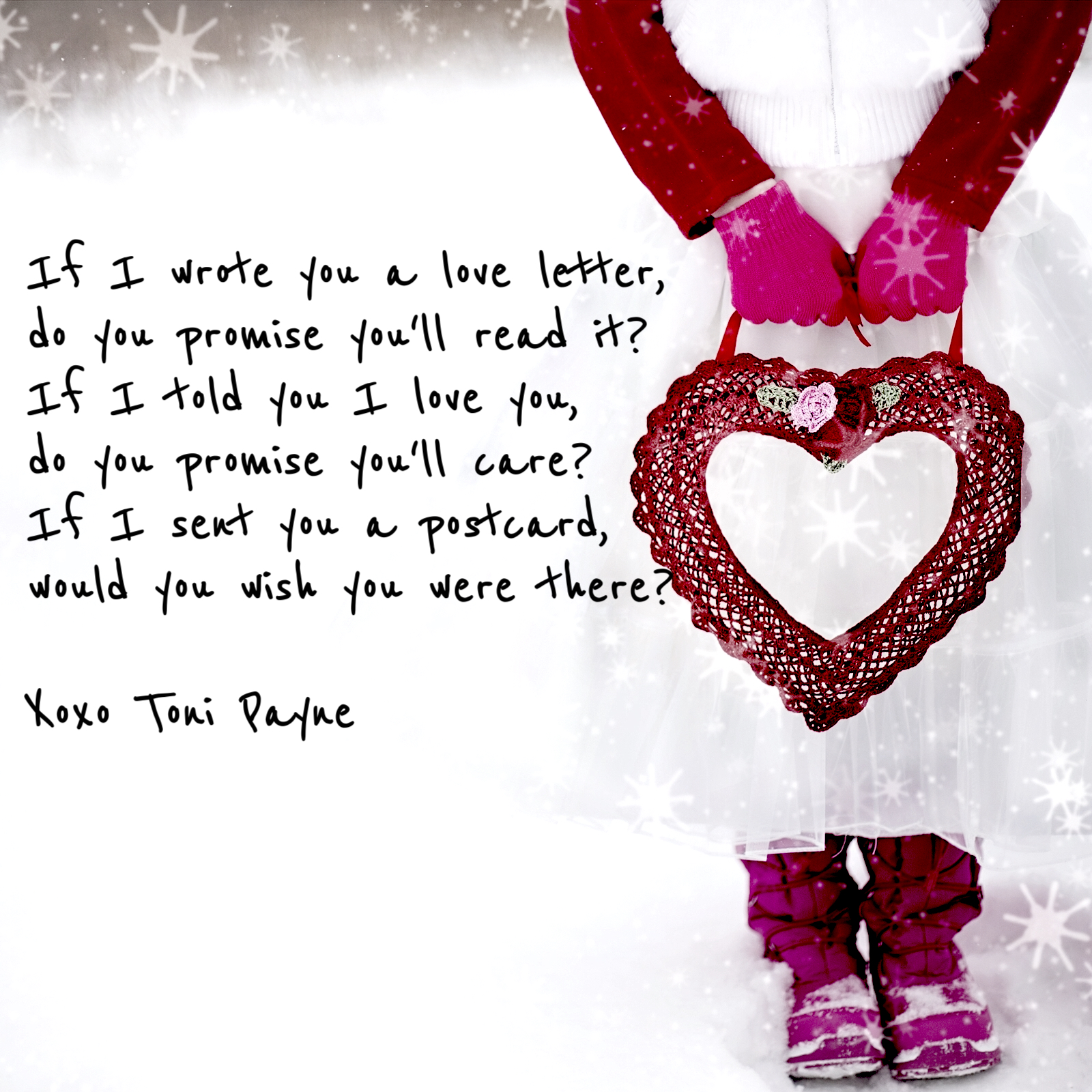 Quote about Love  If I Wrote You a Love Letter  Toni Payne