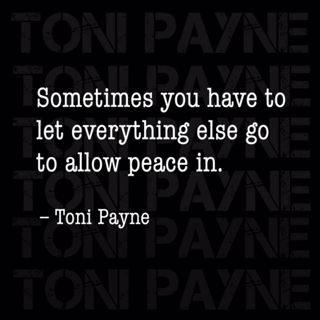 Toni Payne Quote about peace