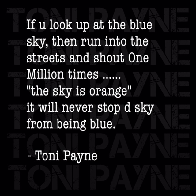 toni payne quote about telling lies
