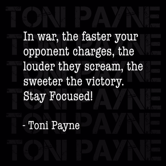 toni payne quote about winning