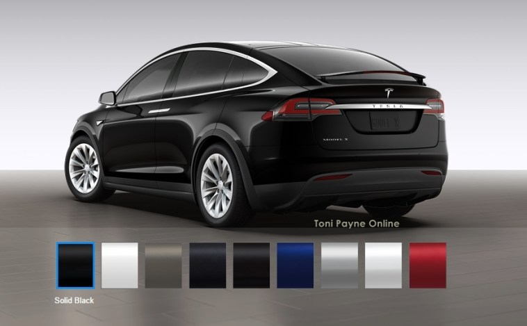 Tesla Model X 60D color options