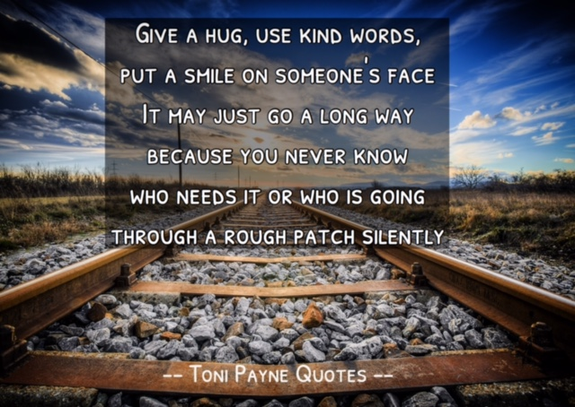 Quote about Kindness  – Toni Payne Quotes