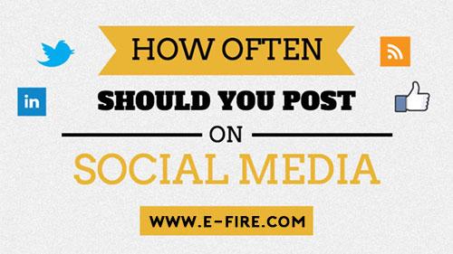 HOW OFTEN SHOULD YOU BE POSTING ACROSS SOCIAL MEDIA?