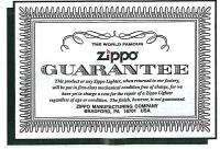 Zippo garanti