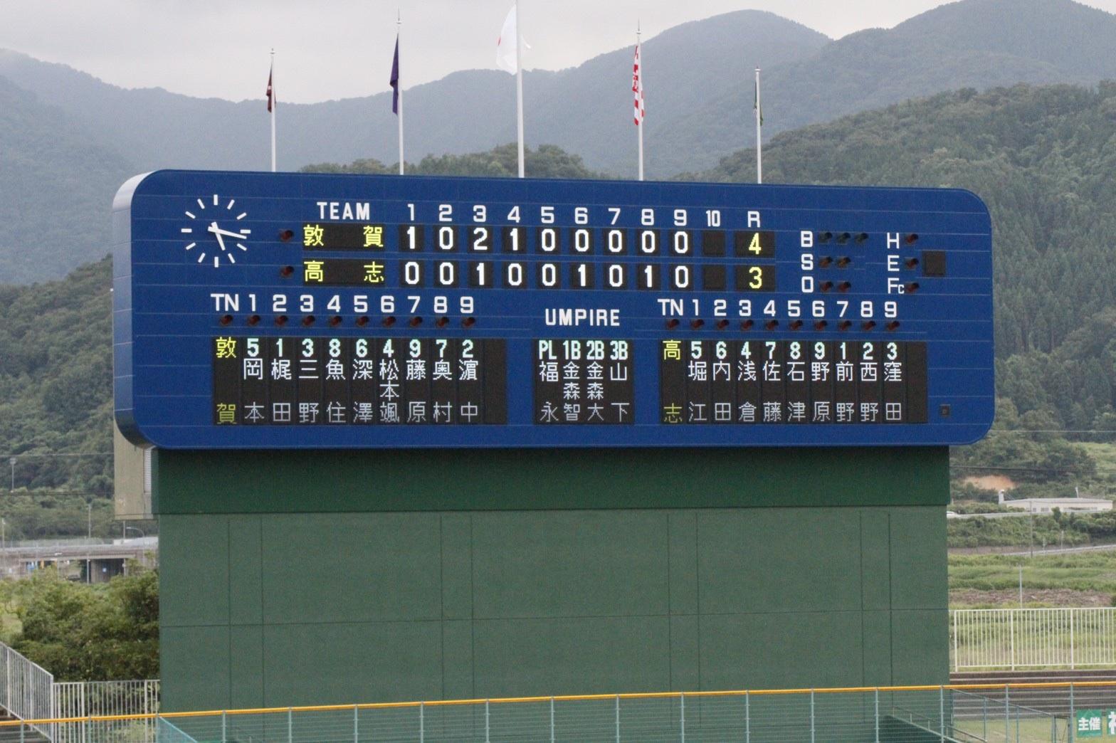 第103回全国高校野球選手権福井大会