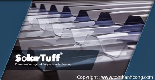 SolarTuff Sóng Vuông - Tôn lấy sáng bằng nhựa polycarbonate
