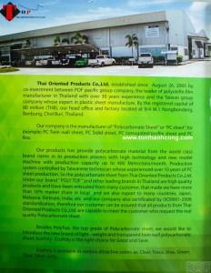Catalog Trang 2 – ECOPOLY, Tấm Polycarbonate Rỗng Ruột Thái Lan
