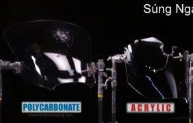 Polycarbonate vs Mica – Thử nghiệm chịu lực Súng Ngắn