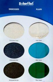 Bảng màu SolarFlat – Tấm lợp lấy sáng polycarbonate đặc ruột