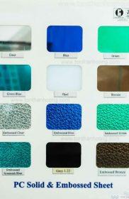 Bảng màu Queen-Lite – Tấm lợp lấy sáng polycarbonate đặc ruột