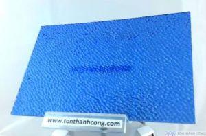 SolarFlat - màu Embossed Blue (Xanh Dương Sần, Cát) - Tấm Polycarbonate Đặc Ruột Lấy Sáng