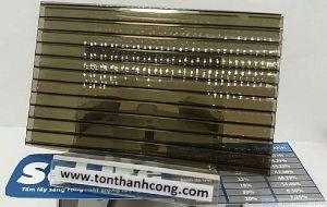 Solite Bronze ST (Trà Đồng) Indonesia - Tấm Polycarbonate Rỗng Ruột Dày 5mm HCM