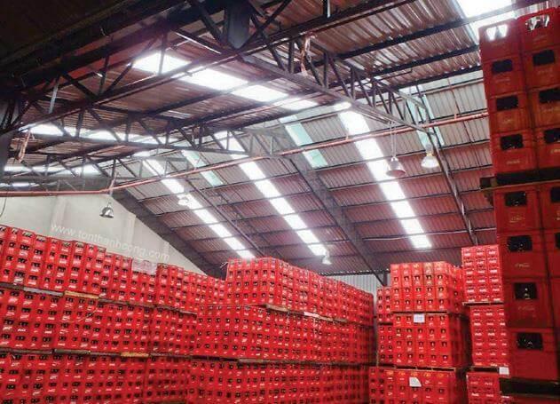 Nhà kho, kho hàng hóa chất - Tôn kháng ăn mòn PVC-A