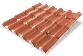 Ngói Nhựa PVC ASA Đỏ Đô Brick Red brick
