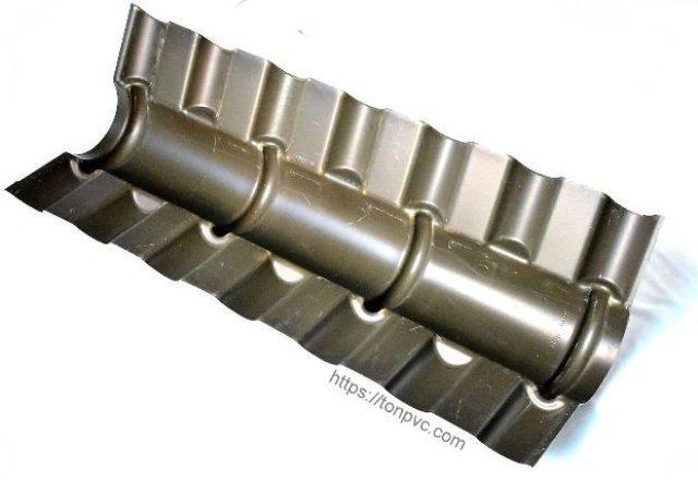 Mặt dưới của Tấm Úp Nóc, phụ kiện Ngói Nhựa Tổng Hợp ASA/PVC