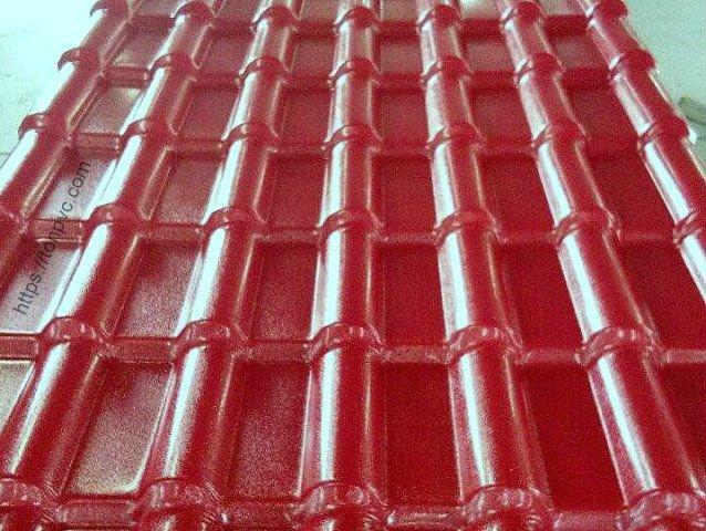 Ngói Nhựa Tổng Hợp ASA/PVC màu Đỏ Đô, Hàng có sẵn