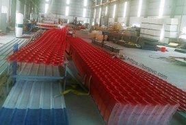Ngói Nhựa Tổng Hợp ASA/PVC màu Đỏ Đô, Sản xuất