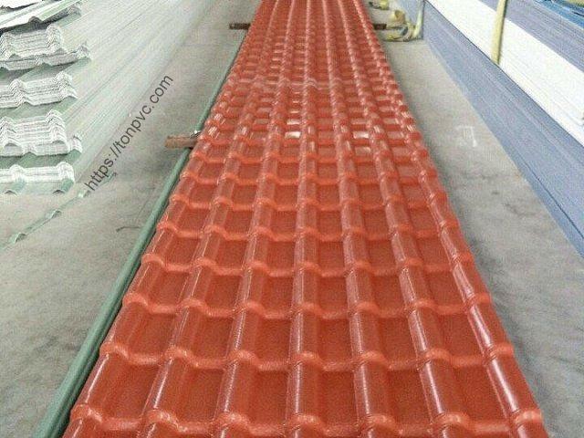 Ngói Nhựa Tổng Hợp ASA/PVC màu Đỏ Ngói, Hàng có sẵn