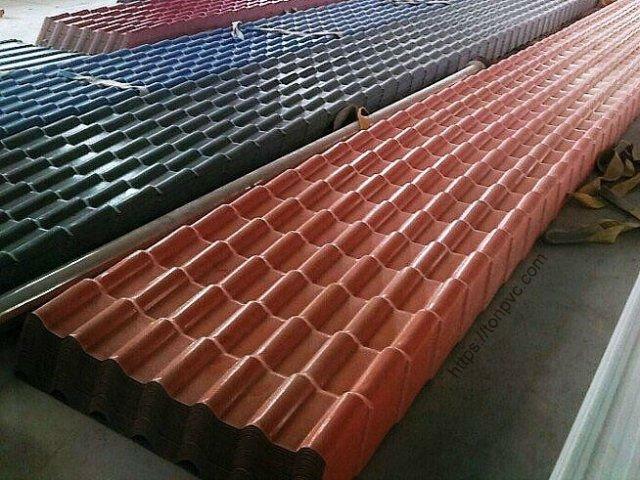 Ngói Nhựa Tổng Hợp ASA/PVC màu Đỏ Ngói, Hàng tồn kho