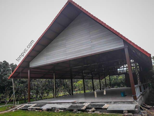 Hình 05 : mặt dựng Khu Du Lịch Nhà Phố Cái Răng - Cần Thơ, Ngói Nhựa ASA/PVC màu Đỏ Ngói