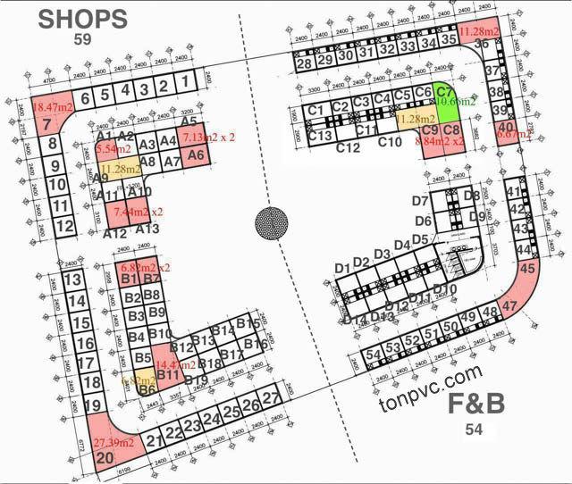 Hình 02 : sơ đồ cửa hàng Khu phố ẩm thực Kenton Village - TP.HCM