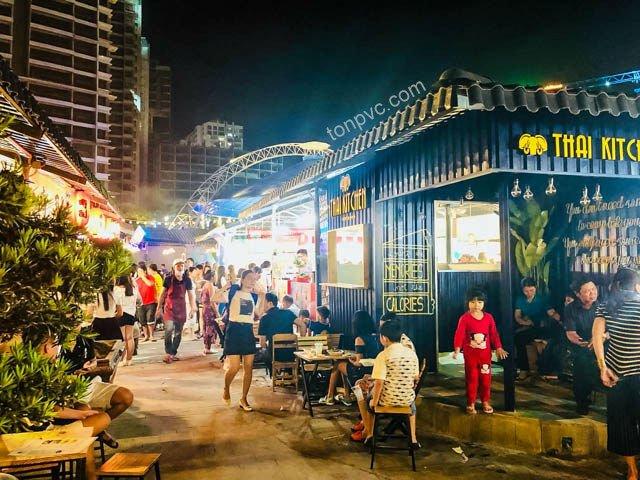Hình 09 : hoạt động kinh doanh Khu phố ẩm thực Kenton Village - TP.HCM, Ngói Nhựa ASA/PVC màu Xám Đen