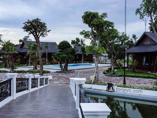 Hình 22 : cảnh quan Khu du lịch sinh thái Thư Duy, Cà Mau - Tôn Nhựa ASA/PVC màu Trắng Sữa
