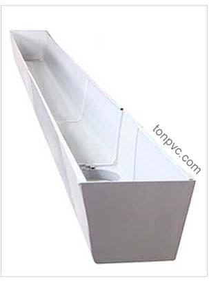 Mô hình Máng Xối Nhựa PVC hoàn thiện với đầy đủ phụ kiện