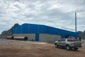 Hình 01 : xưởng sản xuất Nhà máy phân bón Sao Nông - Thanh Hóa, Tôn Nhựa ASA/PVC màu Xanh Dương