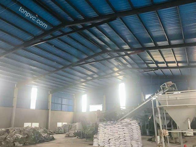 Hình 02 : hoạt động sản xuất Nhà máy phân bón Sao Nông - Thanh Hóa, Tôn Nhựa ASA/PVC màu Xanh Dương