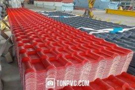 FI Ngói Nhựa ASA PVC công nghệ 04 Lớp, màu Đỏ Đô
