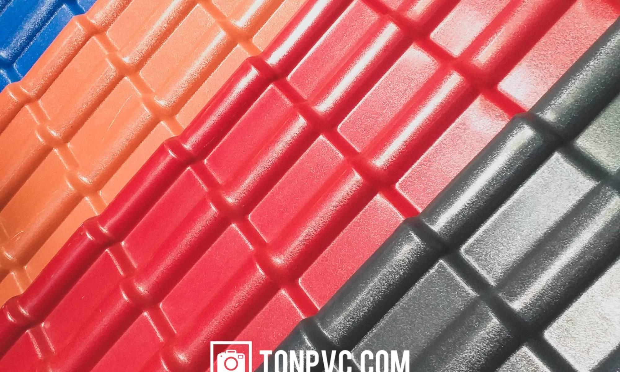 2019-04-08 ngói nhựa asa pvc màu xám đen đỏ đô đỏ ngói xanh dương