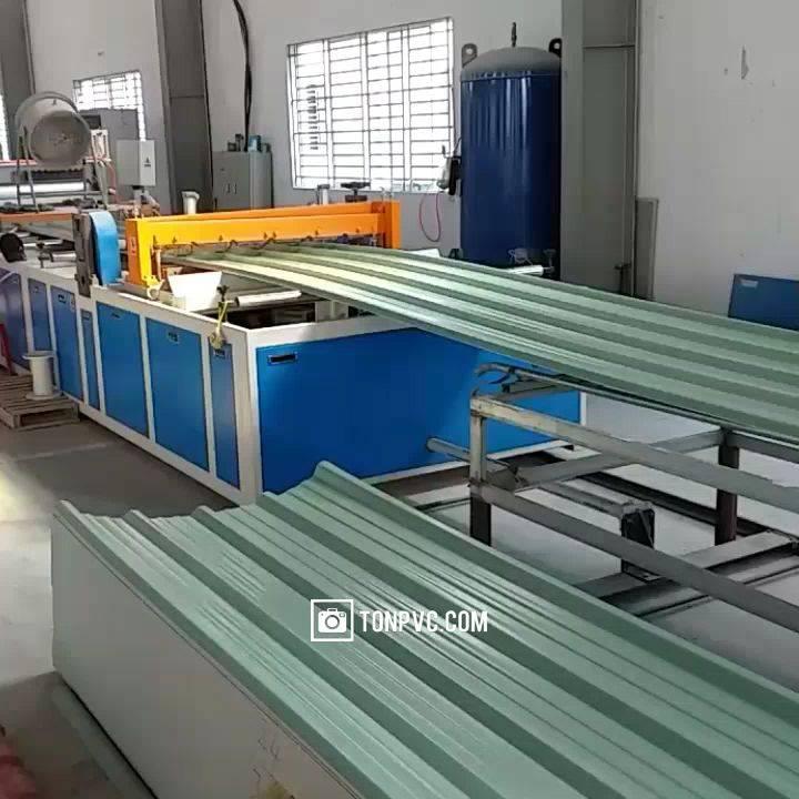 dây truyền sản xuất tôn nhựa pvc / asa / apvc / upvc