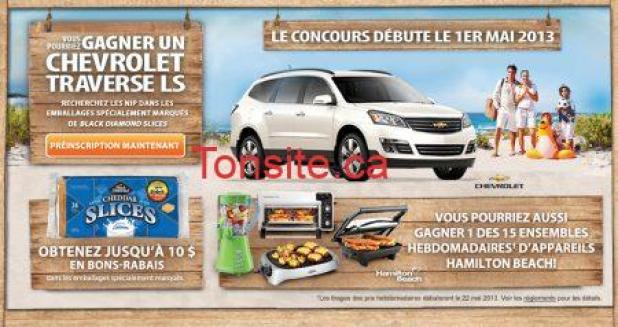 conc - Concours Black Diamond : Gagnez une voiture Chevrolet gratuite