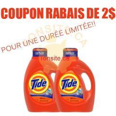 TIDE COUPON 2 - Coupon rabais de 2$ à l'achat d'un produit Tide!