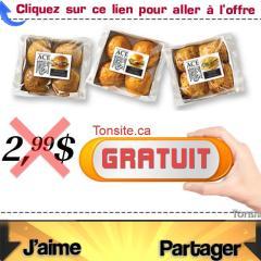 ace pain gratuit - Paquet de 4 pains à hamburger Gourmets Gratuit + 51¢ de remise dans vos poches!