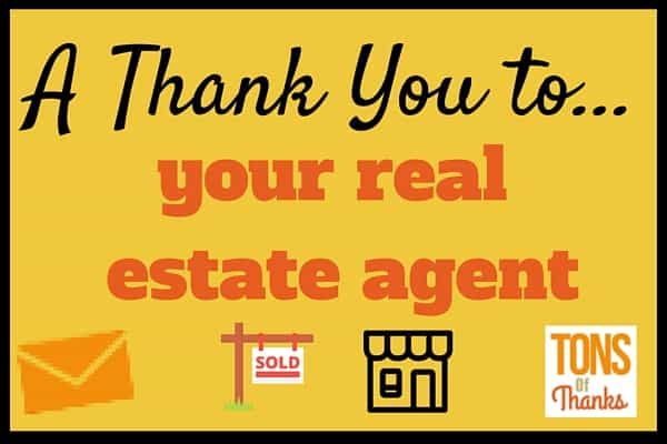 Wonderful Thank your real estate agent with a thank-you note ZZ89