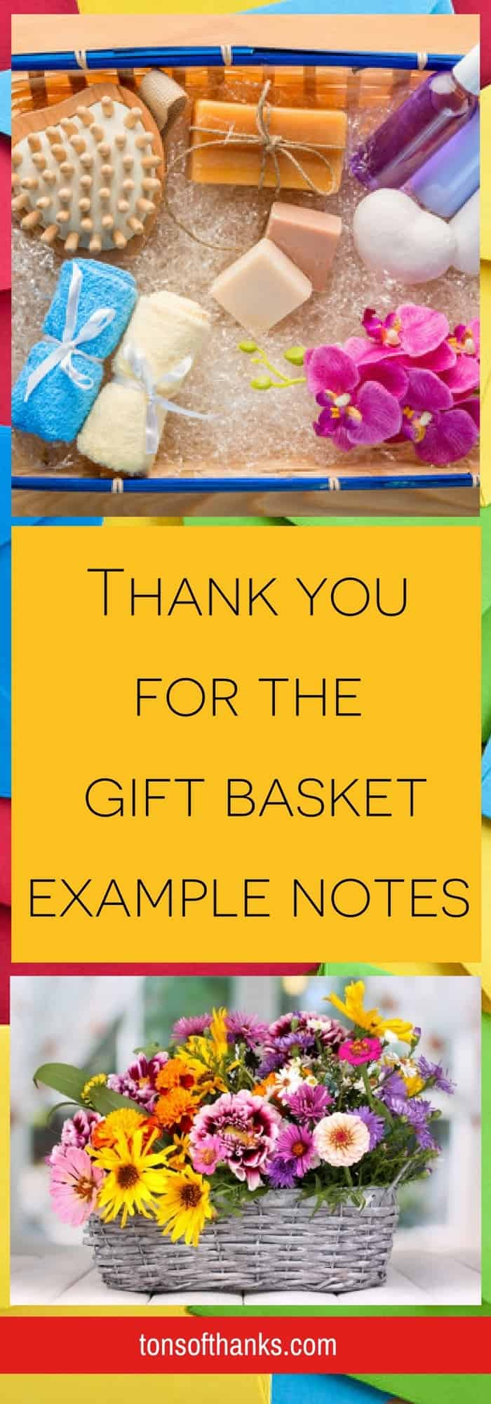 Thank you for the gift basket example notes - Pinterest