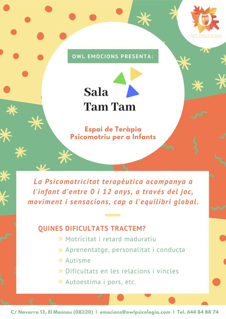 anuncio de la apertura de la Sala Tam Tam