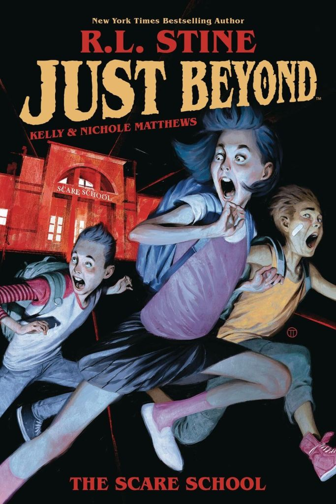 cartel de la novela Just Beyond de R.L Stine