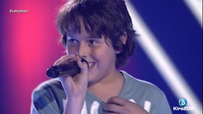 Edu Sánchez en las audiciones a ciegas de La Voz Kids
