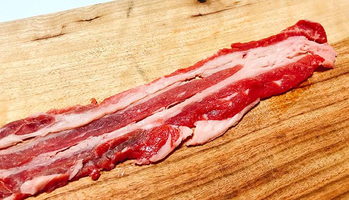 ビーフバラ薄切り(広くしっかりしたお肉)